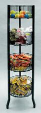 """Impulse Dump Bin Sale  Basket 4-Tier 12"""" Diameter Wire Floor Display Black NEW"""