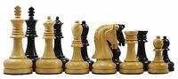 "Augusta Series Premium 4.125"" Staunton Chessmen in Genuine Ebony and Box Wood"