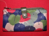 NWOT MZ WALLACE Eden Multi Color Nylon & leather Wallet
