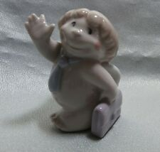 "NAO BY LLADRO CHEEKY CHERUB GREETINGS  ""OFF TO A NEW JOB"" 5068 MINT IN BOX  2007"
