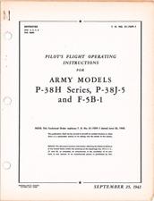 WWII WW2 Fighter P-38 Lightning Warbird Pilot Handbook Aircraft Manual CD COPY