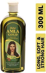 300 ML Dabur Amla GOLD Hair Oil For Dry Damage Weak Hair Almond Amla+free Gift