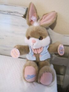APPLAUSE PETER COTTONTAIL PLUSH 1990 MUSICAL NWT!