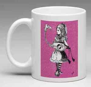 Alice in Wonderland Coffee Mug - Alice & Flamingo Tim Burton Inspired