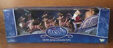 Memory Lane Rudolph the Red Nose Reindeer Santas Sleigh with Reindeer & Rudolph