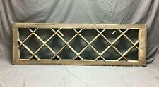 "Antique Diamond Mission 29 Lite Transom Window Shabby Chic 8"" x 59"" Vtg 1394-20B"