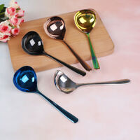 1pc Stainless Steel Spoon soup ladle Home Kitchen Tableware Spoons dinnerware FG