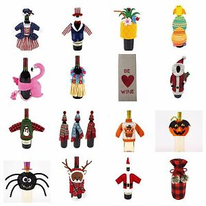 Food Network & Other Brands Applique Wine Bottle Covers Your Choice Free S&H