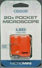 CARSON  MICRO MINI  20x POCKET MICROSCOPE