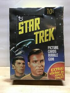 1976 Topps Star Trek 36 Pack Empty Box - Box Only Captain Kirk Spock Cover K8