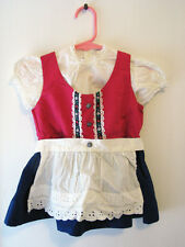 GERMAN DIRNDL DRESS for CHILD Size 3  - Vintage 1970s - West Germany