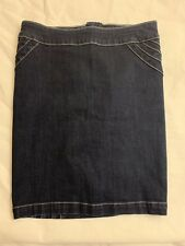 Bebe Jeans - Fitted Dark Blue Skirt Size M Length 19""