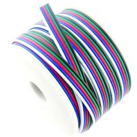 16 5ft 5Pin RGBW RGBWW Extention Cable Wire For LED Strip Light Reel 5050