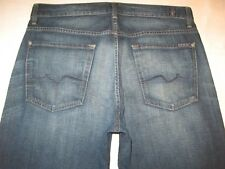 7 For all Mankind Mens Relaxed Jeans Dark Distressed USA Made 34 X 28