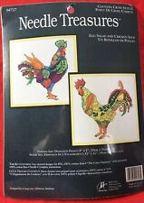 Needle Treasures Counted Cross Stitch Kits ~ Egg Salad & Chicken Soup ~ SEALED