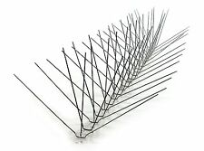 """STOP BIRD PROBLEMS NOW! Crazy Cal's Stainless Steel UV Protected 8"""" Bird Spikes"""