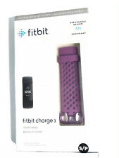 New Fitbit FB168SBLVS Charge 3 Sport Band Small - Berry NIB Sealed Size Large