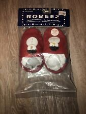 Robeez Soft Sole Red Snowman Slip On Slippers Toddler Shoes Size 2-3 Years EUC