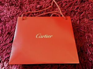 Cartier Boutique Gift Bag - Original with rope handles