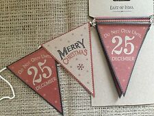 Christmas Vintage Bunting Garland Shabby Chic Home Decoration East of India