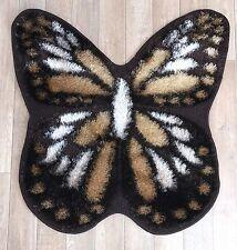 Butterfly Shape Girls Room Floor Mat Carpet Rug 80 x 80 cm