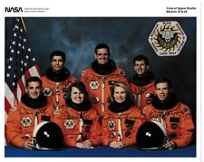 More details for sts-58 full crew hand signed nasa portrait litho - space shuttle astronauts