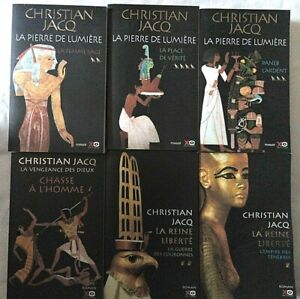 lot de 6 livres roman fiction égyptologie de Christian Jacq