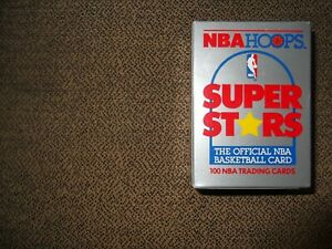 1990-91 NBA HOOPS SUPERSTARS 100-Card FACTORY SEALED SET, Michael Jordan!