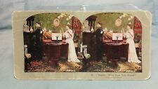 """Antique Stereoview Card """"No. 94. Hands! What Does That Mean? Griffith & Griffith"""