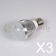 3x Glühbirne 3W LED Sphärische E27 Weiß neutral 220V 240 Lumen -Verbrauch