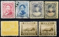 US.(Hawaii)>1882-1894>Used,Unused,perf.12>Personalities & Local Motifs.