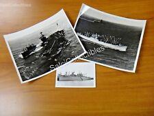 OFFICIAL US Navy Ammunition  Ship 3 Photos 2 -8x10's 3.5x5.5 AE-12 USS Wrangell