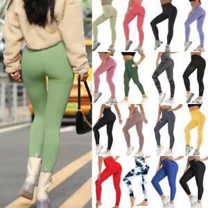 Women's Sport Scrunch Butt Lift Push Up Running Gym Leggings Athletic Yoga Pants