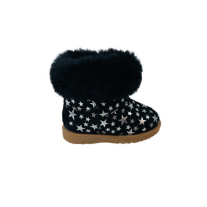 Scarpe stringate alte Donna Colors of California UGG BABY BOOT IN SUEDE Nero HC.