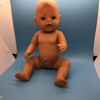 Zapf Creations Baby Born Doll Drink Wets 2013 Open Close Blue Eyes Untested 16""