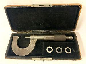 Vintage Rare Starrett No.3 Thread Per Inch Screw Micrometer in Original Case