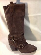 French Connection Brown Mid Calf Suede Boots Size 37
