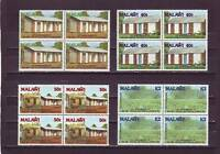 a111- MALAWI - SG825-828 MNH 1989 UNITED NATIONS CO-OPERATION - BLOCKS OF 4