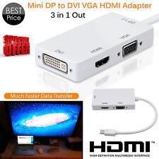 1080p MINI DISPLAY PORT A VGA ADATTATORE HDMI DVI Supporto per PC Macbook Laptop UK