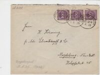 germany 1920s bahnpost railway stamps cover ref 18655