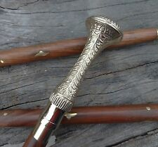 Victorian Handle Brass Antique Wooden Vintage Style Walking Stick Cane Designer