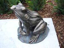 grenouille sur nénuphar en fonte pat , nouveau ! grand modèle !