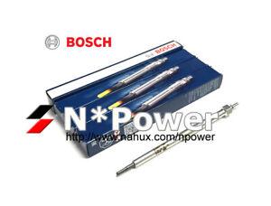 BOSCH GLOW PLUG X4 FOR FIAT 500 GRAND PUNTO 1.2L 169A1 199A3