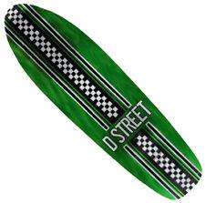 """D-STREET - Bomber - Cruiser Skateboard Deck -  8.25"""" wide - Check Green"""