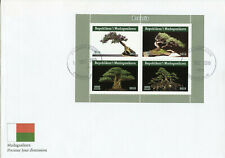 More details for madagascar trees stamps 2019 fdc bonsais bonsai tree nature 4v m/s ii