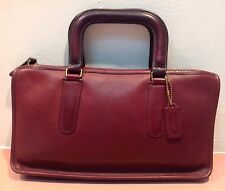 Rare  Vintage 70s Wine/Burgundy BONNIE CASHIN COACH Satchel Briefcase Handbag NY