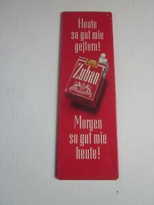 Flaches Motivschild, Zuban, Zigaretten, um 1950, Zustand 1