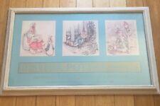 BEATRIX POTTER Print PIERPONT MORGAN MUSEUM 1988 PETER RABBIT *GREAT WOOD FRAME*