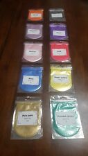 Mica Powder Sample Pack 10 colors for Epoxy, Art, & More 100 Grams Total