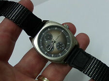 Very Nice Mens Bullhead Quartz Watch; Works Great, New Battery